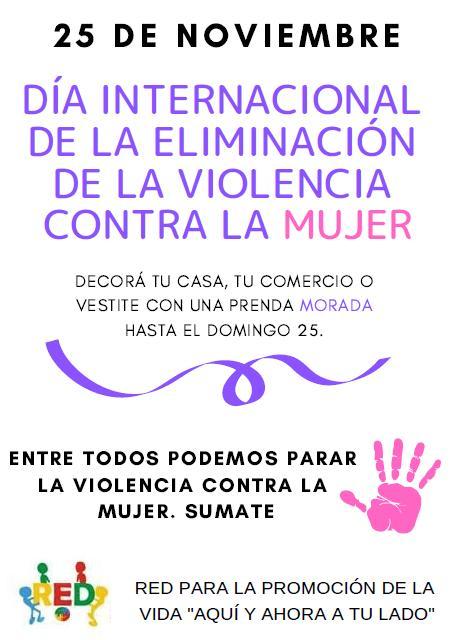 Sumate a la Semana de Erradicación de la Violencia contra la Mujer
